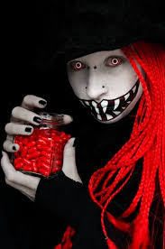 makeup ideas creepy grin red contact lenses makeup ideas 2016 tips and tricks for the perfect make up