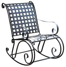 mandalay wrought iron rocking chair in