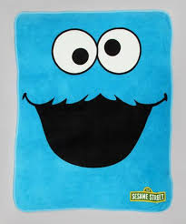 Sesame Street Cookie Monster Fleece Throw Blanket