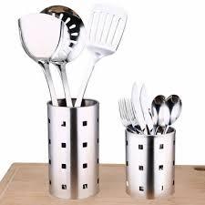 kitchen stainless steel cooking organizer storage tool countertop utensil holder