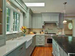 Medium Oak Kitchen Cabinets Greenish Grey Painted Kitchen Cabinets Medium Wood Flooring White