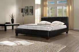 birlea brooklyn black 6ft super kingsize faux leather bed frame by birlea