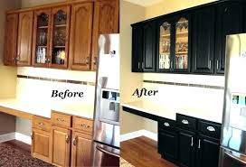 painting oak cabinets cream wood kitchen cabinet painted black before and after cre