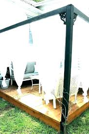 outdoor canopy curtains privacy for deck cabana