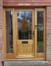 victorian front door 1 glazed pane over 2 raised and fielded panels and frame with sidelights vic21 frame sizes 1690mm wide x 2160mm high door width