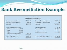 Bank Reconciliation Example Resume Template Ideas