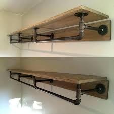closet wood shelves shelf depth vibrant design pipe and fine decoration best industrial ideas on standard image 0 pipe wood shelves bookshelf industrial