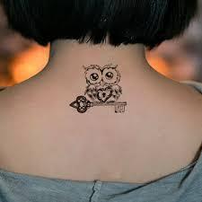 сова боди арт сексуальные Harajuku водонепроницаемые временные татуировки для