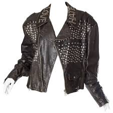 iconic jean paul gaultier love studded leather jacket for