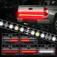 Truck Tailgate Lights Juneven Tailgate Light Bar 60 Inch Truck Brake Flexible Strip Trailer Tail Lights Turn Signal Reverse Back Up Stop Running Light For Pickup Rv Suv Van