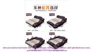 Genuine leather bed <b>frame</b> Soft Beds massager storage safe ...