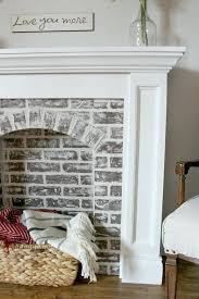 how to a brick fireplace and never believe easy it fake wall sticker best ideas on