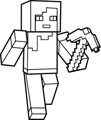 minecraft coloring pages showy zombie pigman
