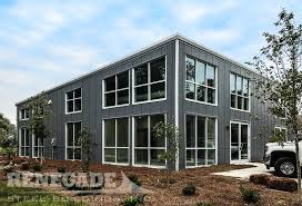 metal building windows. Commercial Steel Building Office With Windows And Doors Gray Metal M