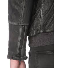 allsaints cargo leather biker jacket men black grey allsaints coats jackets