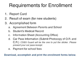 Enrollment Form Stunning SY 4444 Enrollment CARITAS DON BOSCO SCHOOL