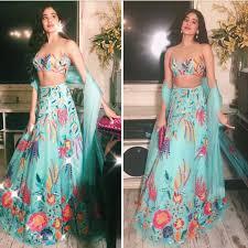 Manish Malhotra Designer Long Skirts Jhanvi Kapoor In Manish Malhotra Lehenga Boutiquesarees Com