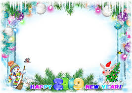 happy new year 2019 photo frame psd png