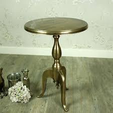 metal pedestal table gold round metal pedestal side table industrial metal pedestal table base wood and