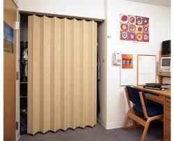 accordion closet doors. Simple Bedroom With Oak Finish Residential Accordion Folding Closet Door, Brown Wooden Desk File Doors O