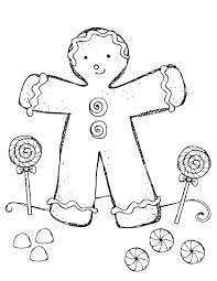Gingerbread Man Colouring Pages Printable Gingerbread Man Coloring