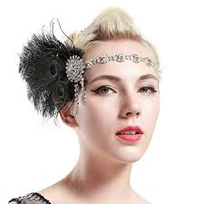 Gatsby Hairstyles 23 Awesome BABEYOND 24s Flapper Headband Roaring 24s Headpiece Gatsby Peacock