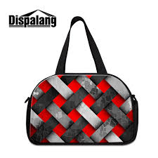 Mens Designer Duffle Bags Us 29 99 40 Off Dispalang New Fashion Brand Designer Mens Travel Bags Colorful Plaid Printing Medium Women Luggage Duffle Bags With Shoes Pocket In