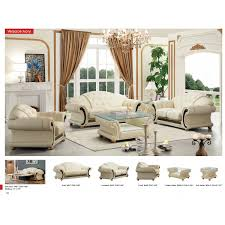 traditional leather living room furniture. Cleopatra Traditional Leather Sofa Set Versace Genuine Italian Button Tufted Luxury Furniture Living Room Bedroom La A