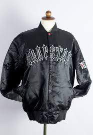 Trapstar Bomber Stadium Jacket Size Small Black Stussy Style