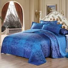 navy blue damask bedding set