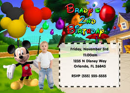 Mickey Mouse Clubhouse 2nd Birthday Invitations Mickey Mouse Personalized Invitations Inspirational Printed