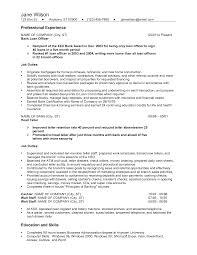 resume good resume for bank teller