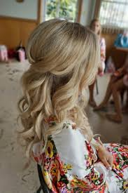 Half Up Half Down Curl Hairstyles Partial Updo Wedding Hairstyles