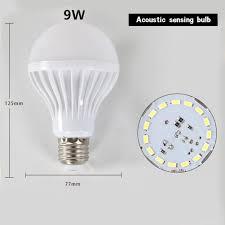 Led Light Bulb Delay Led Sound Voice Control Light Smart Sensor Induction