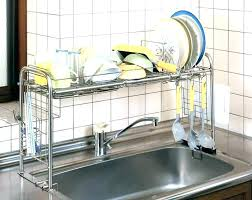 kitchen sink dish rack bed bath and beyond dish racks over sink dish rack small in
