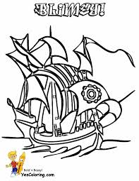 High Seas Pirate Ship Coloring Pages Pirate Ship Free Pirates