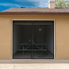 2 car garage screen door 2 piece one car garage screen door set trademark 2 car