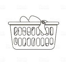 laundry clipart black and white. Delighful White Vector Illustration Of Laundry Basket Stock Art To Clipart Black And White R