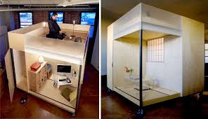 space saving home office. The Mobile Cube, Created By Spaceflavor, Allows Entrepreneurs At Home To Build Up, Not Out. Space Saving Office