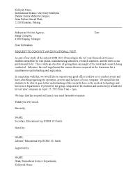 Permission Letter To Visit Company Doc
