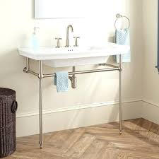 bathroom console sink sinks with metal legs table uk