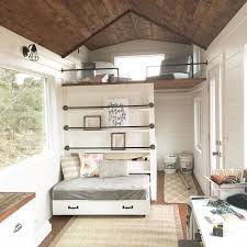 ana white tiny house loft with bedroom guest bed storage and shelving diy projects