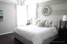 Bedroom : Bedroom Striped Bedroom Wall Combined Grey Bed With ...