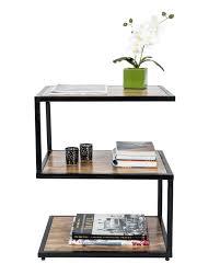 S Shaped Coffee Table Modern Dakota S Shape Side Table Solid Mango Wood Natural Shade