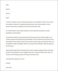 Externship Cover Letter Cover Letter For Medical Assistant