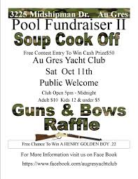 oct th flyer gun raffle middot soup cook off