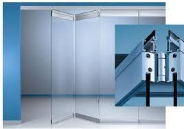 aluminum bi fold hinged glass wall