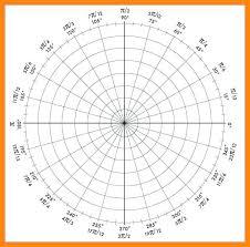 Printable Graph Paper For Algebra Polar Coordinate 4 Per Page Fitguide