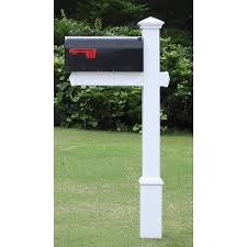 mailbox post. The Homestead Vinyl / PVC Mailbox Post (Includes Mailbox)