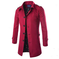 single ted mens winter pea coat plus size patchwork turn down collar men red pea coat